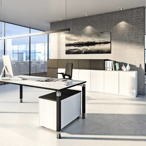 Büro Schwarz/Weiß