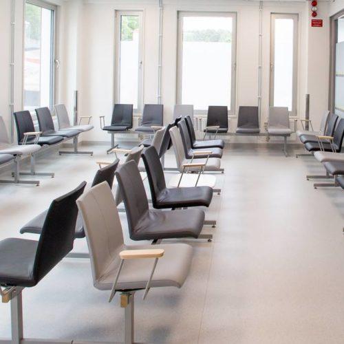 Wartezimmer Stühle Grau