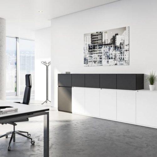 Dienstzimmer Schwarz/Weiß