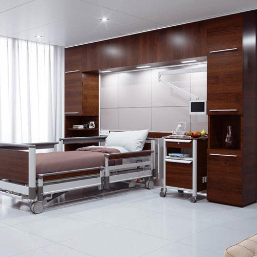 Pflegezimmer Braun